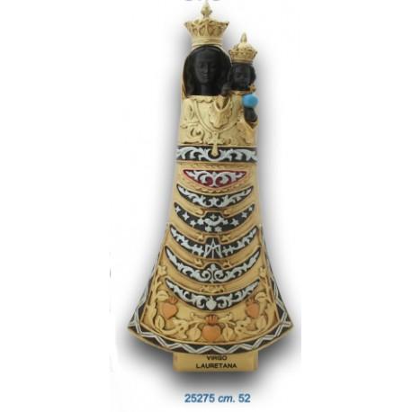 Statua Madonna di Loreto cm. 52 oro