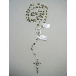 Corona del Rosario con grani in cristallo